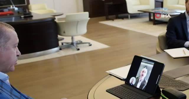 Cumhurbaşkanı Erdoğan, Karaismailoğlu ile görüştü