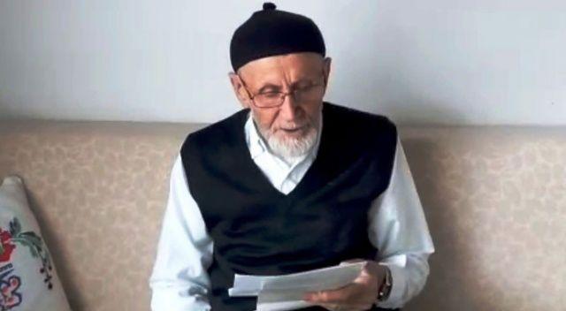 78 yaşındaki Mehmet amcadan şiirli 'evde kal' çağrısı