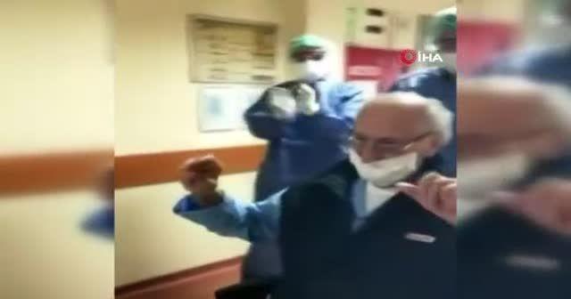 95 yaşında koronavirüsü yendi, oynayarak taburcu oldu