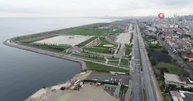 Maltepe ile Pendik arasındaki sahil şeridi ıssızlığa büründü