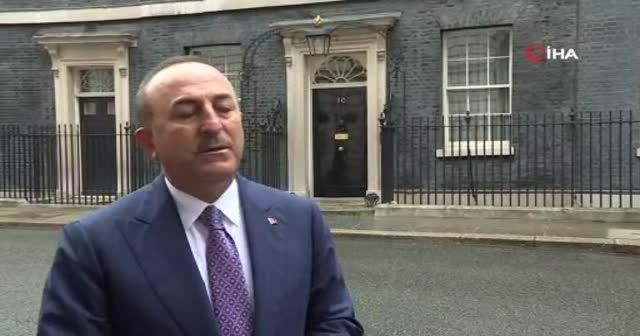 Çavuşoğlu: 'Libya'da İngiltere de biz de tek çözümün siyasi çözüm olduğunu düşünüyoruz'