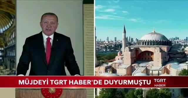 Cumhurbaşkanı Erdoğan, müjdeyi TGRT Haber'de duyurmuştu!