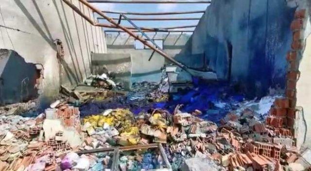 Fabrikanın içinden çekilen görüntüler patlamanın şiddetini gözler önüne serdi