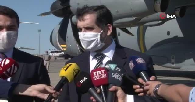 Türkiye'nin koronavirüs yardımı Azerbaycan'a ulaştı
