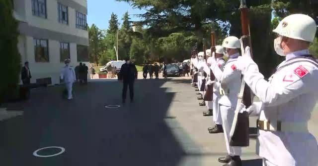 Bakan Akar ve TSK komuta kademesi Donanma Komutanlığında