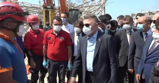Cumhurbaşkanı Yardımcısı Oktay ve Dışişleri Bakanı Çavuşoğlu Lübnan'da patlama alanında