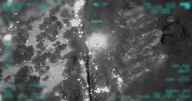 İnsansız hava aracının görüntüleri teröristlerin hain planını deşifre etti
