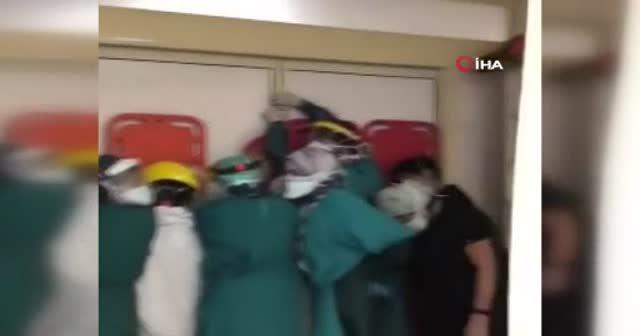 Ankara Keçiören'de sağlık çalışanlarına çirkin saldırı