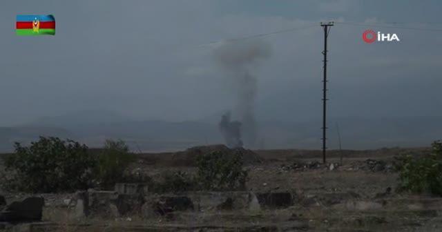 Ermeni topçu birlikleri Azerbaycan ordusu tarafından vuruldu