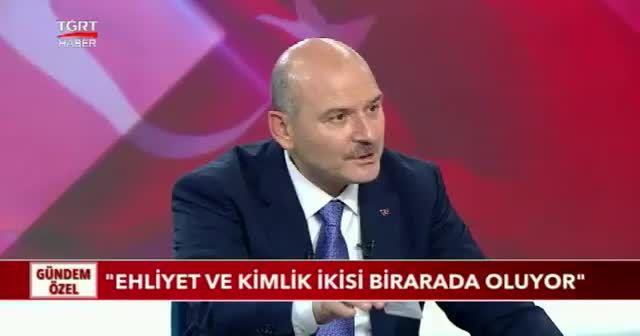 İçişleri Bakanı Süleyman Soylu: Ehliyet ve kimlik ikisi bir arada oluyor