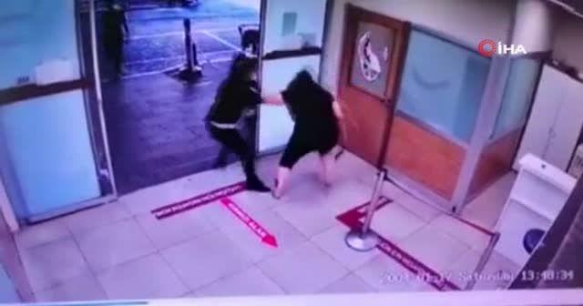 Maske takmayan kadın hastanede terör estirdi