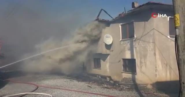 Bolu'da bir evde çıkan yangın bütün köye yayıldı