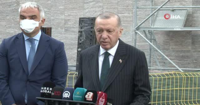 Erdoğan çalışmaları inceledi: Taksim Camii Ramazan ayında  açılıyor