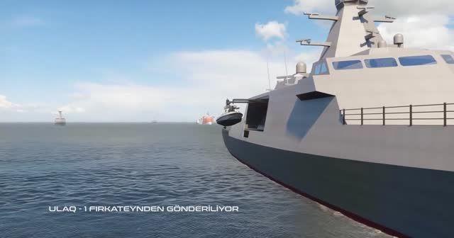 """Türkiye'nin ilk muharip insanız deniz aracı """"ULAQ"""" tanıtıldı"""