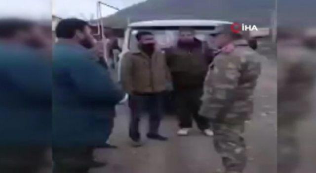 Azerbaycan askeri, Ağdam'ın tahliyesinde Ermeni sivillere yardım etti