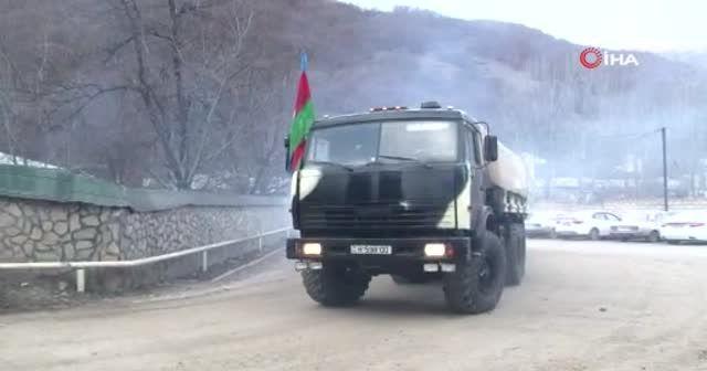 Azerbaycan ordusunun Kelbecer'e asker sevkiyatı sürüyor