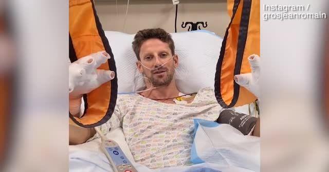 """Formula 1'de ateş topundan sağ çıkan Roman Grosjean'dan """"Ben iyiyim"""" videosu"""