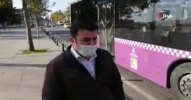 Koronalı otobüs şoförü direksiyon başında yakalandı
