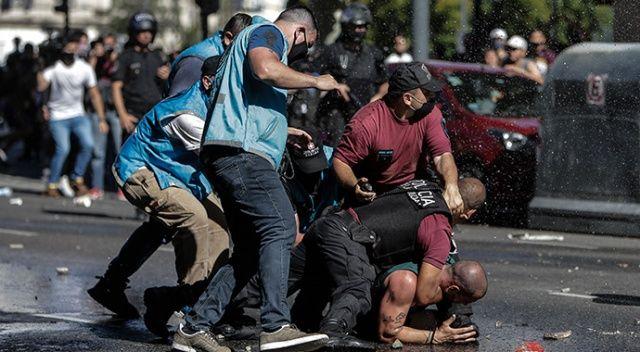Maradona'nın cenazesinde olaylar çıktı