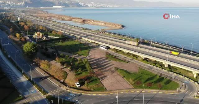 Trabzon'da yollar ve caddelerde sessizlik hakim