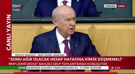 Bahçeli: CHP Genel Başkanı HDP'nin eş başkanlığına taliptir