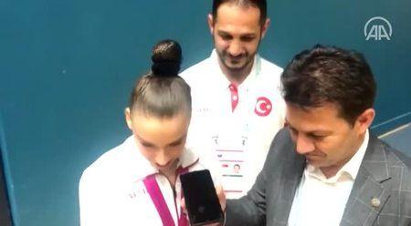 Türkiye'nin 'altın kızına' Erdoğan'dan tebrik telefonu