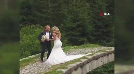 Düğün çekimine köpek engeli