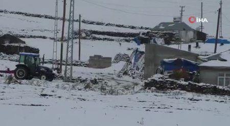 Kars'a kış erken geldi: Kar yağdı, sıcaklık eksi 5'e düştü